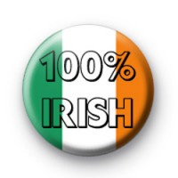 100% Irish Flag badges