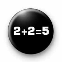 2+2=5 button badge