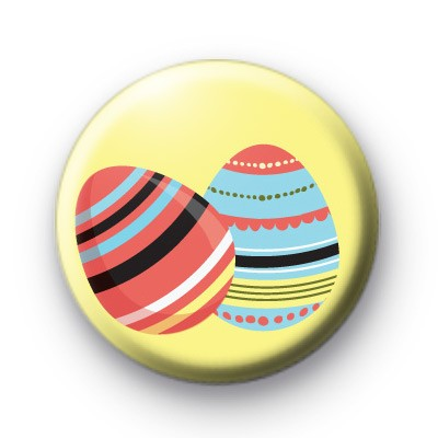 2 Easter Eggs Button Badges