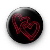 2 Love Hearts Hen Party Badge
