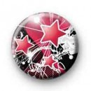 Three pink stars badges