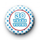 Custom Blue Stars Years Young Badge