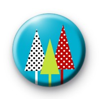 3 Christmas Trees Button Badges