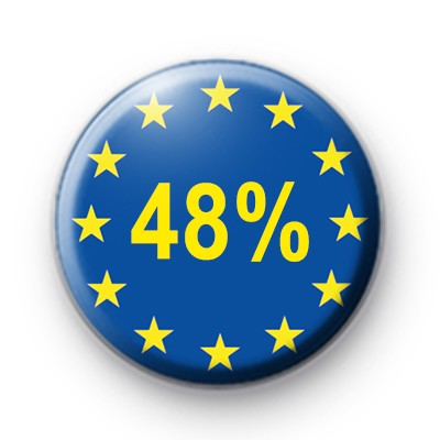 48% EU Button Badge