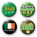 Set of 4 Green St Patrick's Day Badges