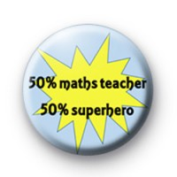 50 Percent Maths Teacher badge