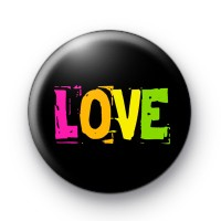 Bright 80s Retro LOVE Badges
