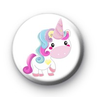 Cute Rainbow Unicorn Badge