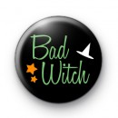 Bad Witch Halloween Badges