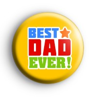 Yellow Best Dad EVER Badge