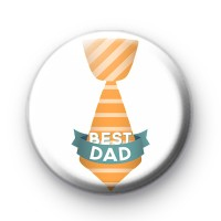 Best Dad Tie Button Badges