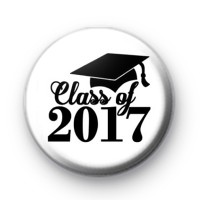 Black and White Class of 2017 Badge