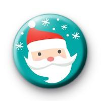 Festive Blue Snowflake Santa Badge