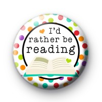 Bookish Themed I'd Rather Be Reading Badge