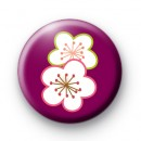 Bright Purple Floral Button Badges