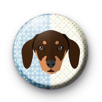 Adorable Brown Puppy Badge