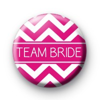 Chevron Pink Team Bride Badge