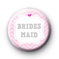 Cute Pink Bridesmaid Badges