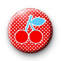Cherries ROCK button badge thumbnail