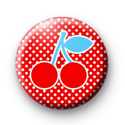 Cherries ROCK button badge