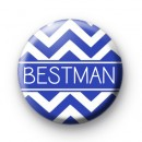 Chevron Blue Bestman Button Badge