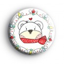 Winter Polar Bear Badge