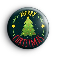 Xmas Tree Merry Christmas Badge