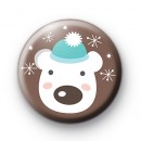 Festive Polar Bear Button Badges