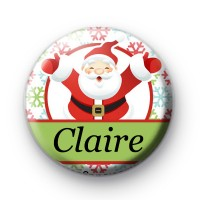 Custom Santa Snowflake Name Badge