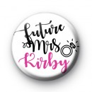 Diamond Ring Future Mrs Button Badge