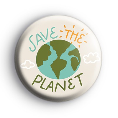 ECO Save The Planet Badge
