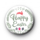 Green Happy Easter Pin Badge