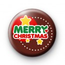 Festive Merry Christmas Stars Badge