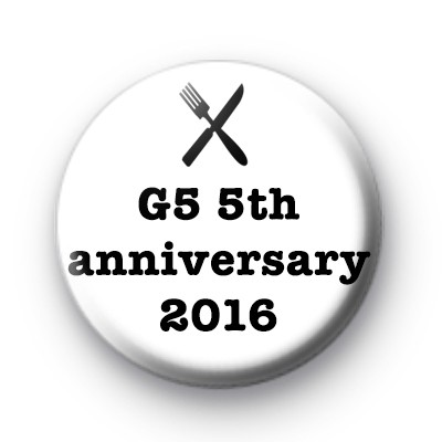 G5 5th anniversary foodie badges