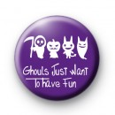 Ghouls Purple Halloween Badge