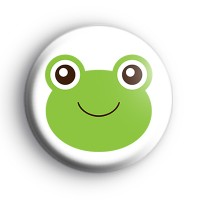 Cute Green Frog Froggy Badge