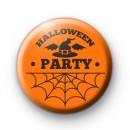 Orange Halloween Party Badge
