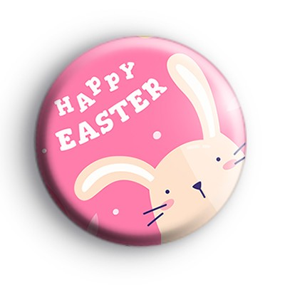 Easter Pink Bunny Badge
