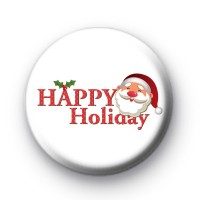 Happy Holiday Santa Badges