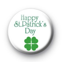 Happy St Paddys Day Badge