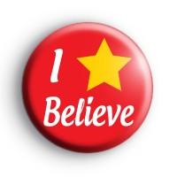 I Believe Christmas Star Badge
