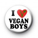 I Love Vegan Boys Badge