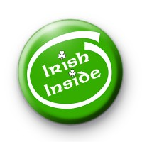 Irish Inside Green Button Badge