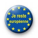 Je reste europeenne button badge