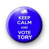 Keep Calm and Vote Tory Button Badge thumbnail