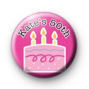 Custom Birthday Cake Badge