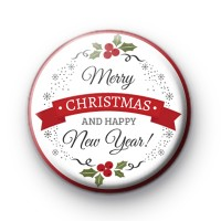Merry Christmas and Happy New Year Badge