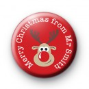 Reindeer Merry Christmas from teacher Badge