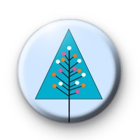 Modern Blue Christmas Tree Badge