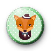 Mr Fox Button Badge